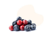 Natural superfoods like organic blueberries and organic cranberries are a great source of antioxidants, Vitamin C and fiber.
