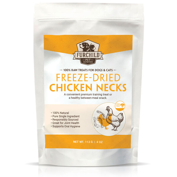 Freeze-dried Chicken Necks
