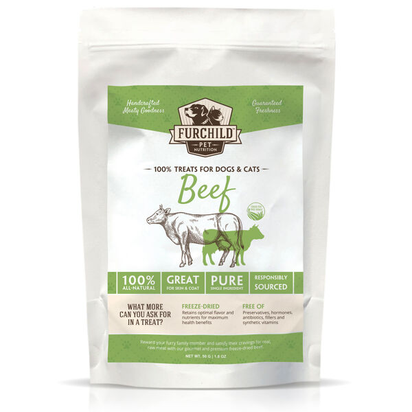 Premium Freeze-dried Grass-fed Beef Treats
